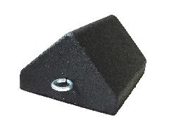 "WHEEL CHOCK RUBBER POINT TOP 1"" EYE BOLT"