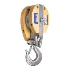 Campbell® Safety Locking Drop Link Manila Rope Snatch Blocks - 7/8' Cable/Wire Size