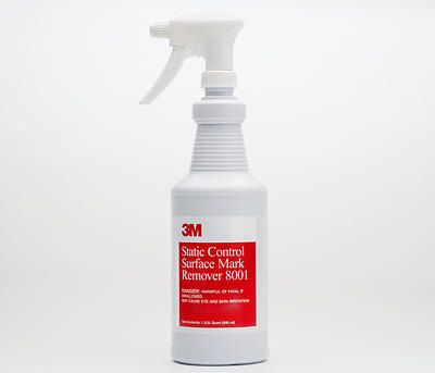 Static Control Surface Mark Remover, 12- 1 quart bottles per c - P/N 8001