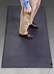 24X36 Gray Floor Mat With Cord, 1 Layer Anti-Fatigue