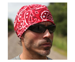 Chill-Its® 6600-IS High Perf Bandana w/Insect Shield® Red Western