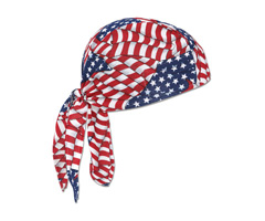 Chill-Its® 6610-IS Cotton Dew Rag w/ Insect Shield®, Stars & Stripes