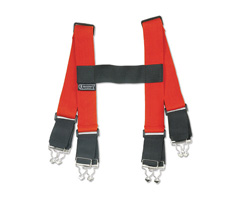 "Arsenal® 5090 Red Suspenders 38"" Red"