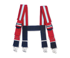 "Arsenal® 5093 Quick Adjust Suspenders-Reflective 36"" Red"