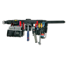 Arsenal® 5408 Electricians 26-Pkt Top Grain Tool Rig, Black, Medium