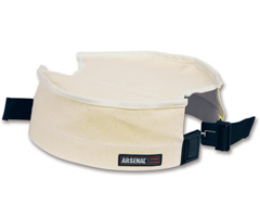Arsenal® 5739 Canvas Bucket Safety Top, White, 10""