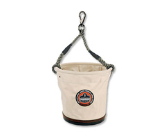 Arsenal® 5746 Tapered Plastic Bottom Bucket w/ swivel snap, White