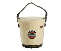 Arsenal® 5736T Tapered Bucket w/ Safety Top , White, Large
