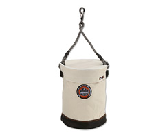 Arsenal® 5740T Leather Bottom Bucket w/ Top, White, Large