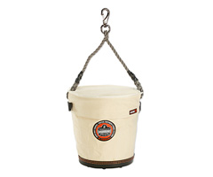 Arsenal® 5746T Tapered Bucket w/ Safety Top and Snap , White, Large