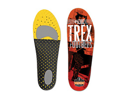 Trex™ 6382 Economy Footbed, Orange & Black, Medium