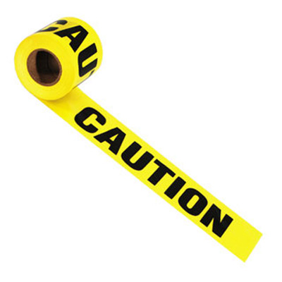 "1000' x 3"" - CAUTION - CONSTRUCTION AREA Barrier Tapes - P/N 66211"