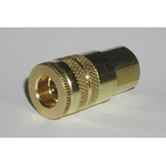 "1/4"" NPT F x 1/4"" QC Brass Coupler"
