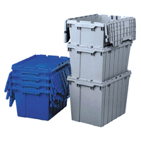 13 Gallon Tote, Blue, 6 per carton.