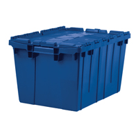 12 Gallon All-Plastic Tote, BLUE, 6 per carton