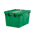 14 Gallon All-Plastic Tote, Green, 6 per carton.