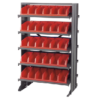 Double-Sided System Bin™ Rack with 10 Shelves