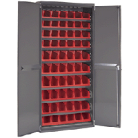 System Bin™ Cabinet with 10 Bins # 30312RED