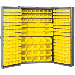 "Heavy-Duty Cabinet - 48"" D x 24"" W x 78"" H with louvers / yellow AkroBins"