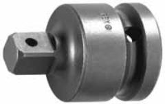 "Adapter, 1"" Male Square x 3/4"" Female Square, Drill Hole Lock, OAL 2-9/16"""