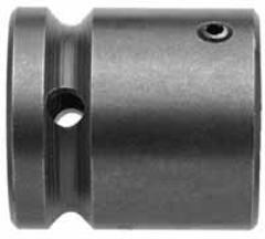 "Adapter / Bit Holder, 3/8"" Female Square Drive, 1/4"" Hex Opening, OAL 1-1/2"""