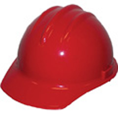 6pt, Pinlock, Classic Cap Style Hard Hat, Red