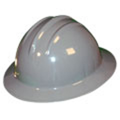 6pt, Ratchet, Classic Full Brim Style Hard Hat, Dove Grey
