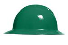 6pt, Ratchet, Classic Full Brim Style Hard Hat, Forrest Green