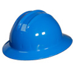 6pt, Ratchet, Classic Full Brim Style Hard Hat, Kentucky Blue