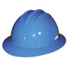 6pt, Pinlock, Classic Full Brim Style Hard Hat, Pacific Blue