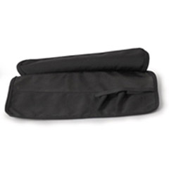 7-Pocket Black Tool Roll Up with Flap 15x8