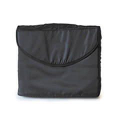 Black Padded Nylon Computer Bag 14x10x2.5