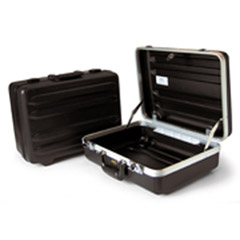 "8"" Black & Aluminum Horizontal Ribbed Tool Case-REG 17.75x12.5x8"