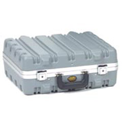 "9"" Grey & Aluminum Vertical Ribbed Tool Case-LRGE 17.75x14.5x8"