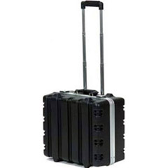 "9"" Rolling Black-Aluminum Vertical Ribbed FoamFilled Case 17.75x14.5x9"