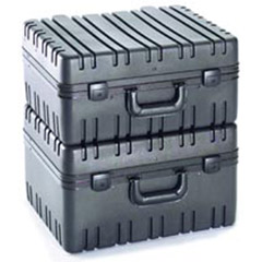 "10"" Black Rotational Mold Tool Case-LRGE   17.75x14.5x10"