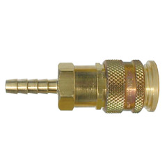 1/4 HOSE BARB HIGH FLOW COUPLER MEG