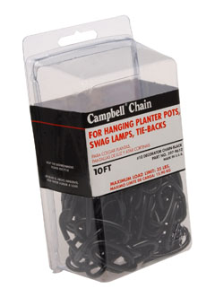CHAIN,10' BLACK, DECO PKG