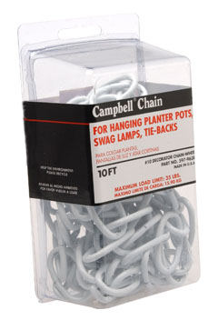 CHAIN,10' WHITE, DECO PKG