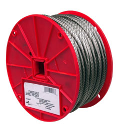"CABLE,1/8"",7X7,STAINLESS,250'/REEL"
