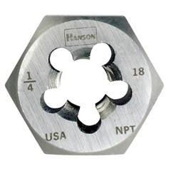"1/4"" - 18 NPT, HCS Rethread Hex Taper Pipe Die Right-Handed- Bulk"