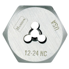 "1/4"" - 20 NC,Fractional Hex Dies (HCS) - 1"" OD - Carded"