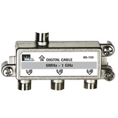 High Performance Cable Splitter, 5MHz-1GHz 3-Way, Card of 1