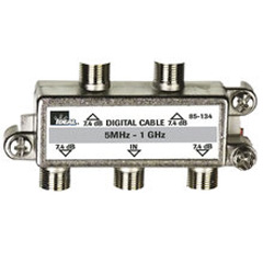 High Performance Cable Splitter, 5MHz-1GHz 4-Way, Card of 1
