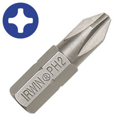 "#2 Phillips Drywall Insert Bit 1"" OAL 2 Pc."