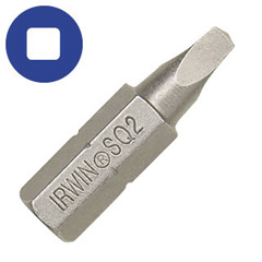 "#1 Square Recess Insert Bit 1"" OAL 2 Pc."