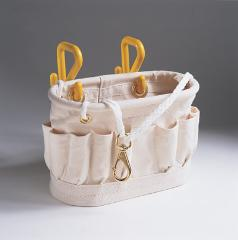 "Canvas Tool Tray, with Two (2) ""S"" Hooks"