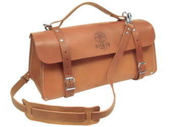 "18"" Deluxe Leather Bag"