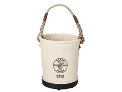 Tapered-Wall Canvas Bucket
