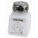 PURE-TOUCH, NATURAL SQUARE, HDPE, 4 OZ,IMPRINTED 'ACETONE'